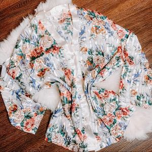 Vintage Victoria Secret Floral Button Top